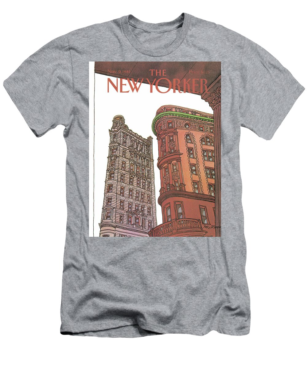 Business Offices T-Shirt featuring the painting New Yorker November 9th, 1981 by Roxie Munro
