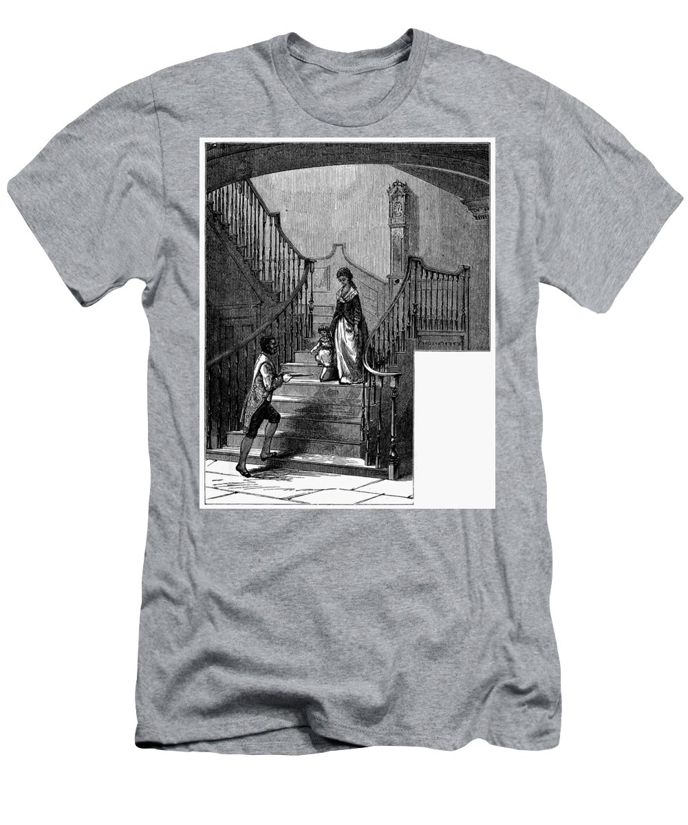 1780 Men's T-Shirt (Athletic Fit) featuring the painting Newark Schuyler Mansion by Granger