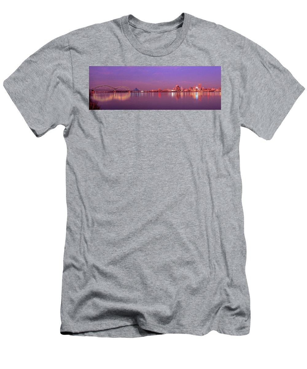 Photography Men's T-Shirt (Athletic Fit) featuring the photograph Night Memphis Tn by Panoramic Images