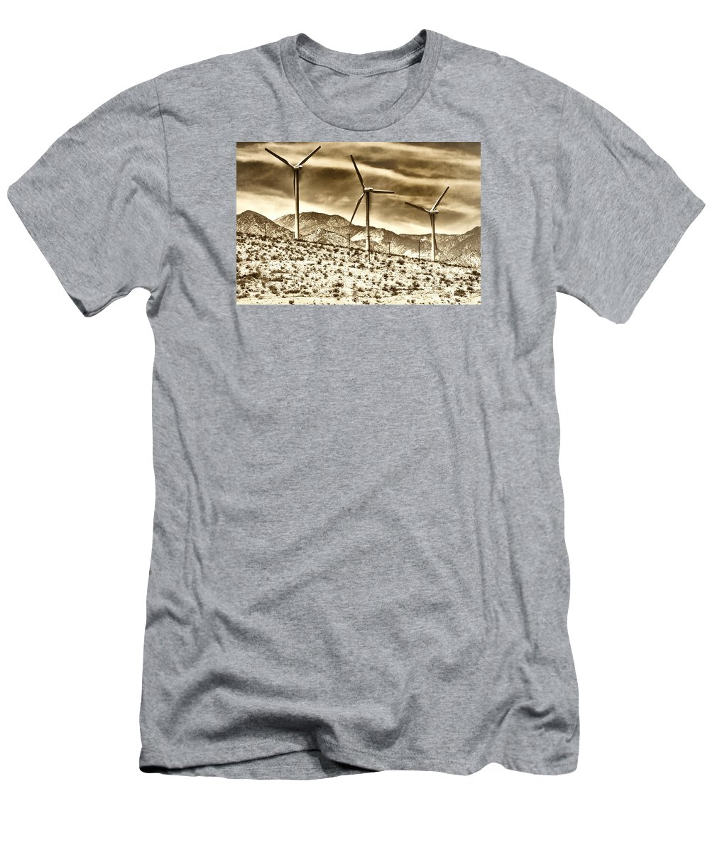 Featured Men's T-Shirt (Athletic Fit) featuring the photograph No Place Like Home 3 Palm Springs by William Dey