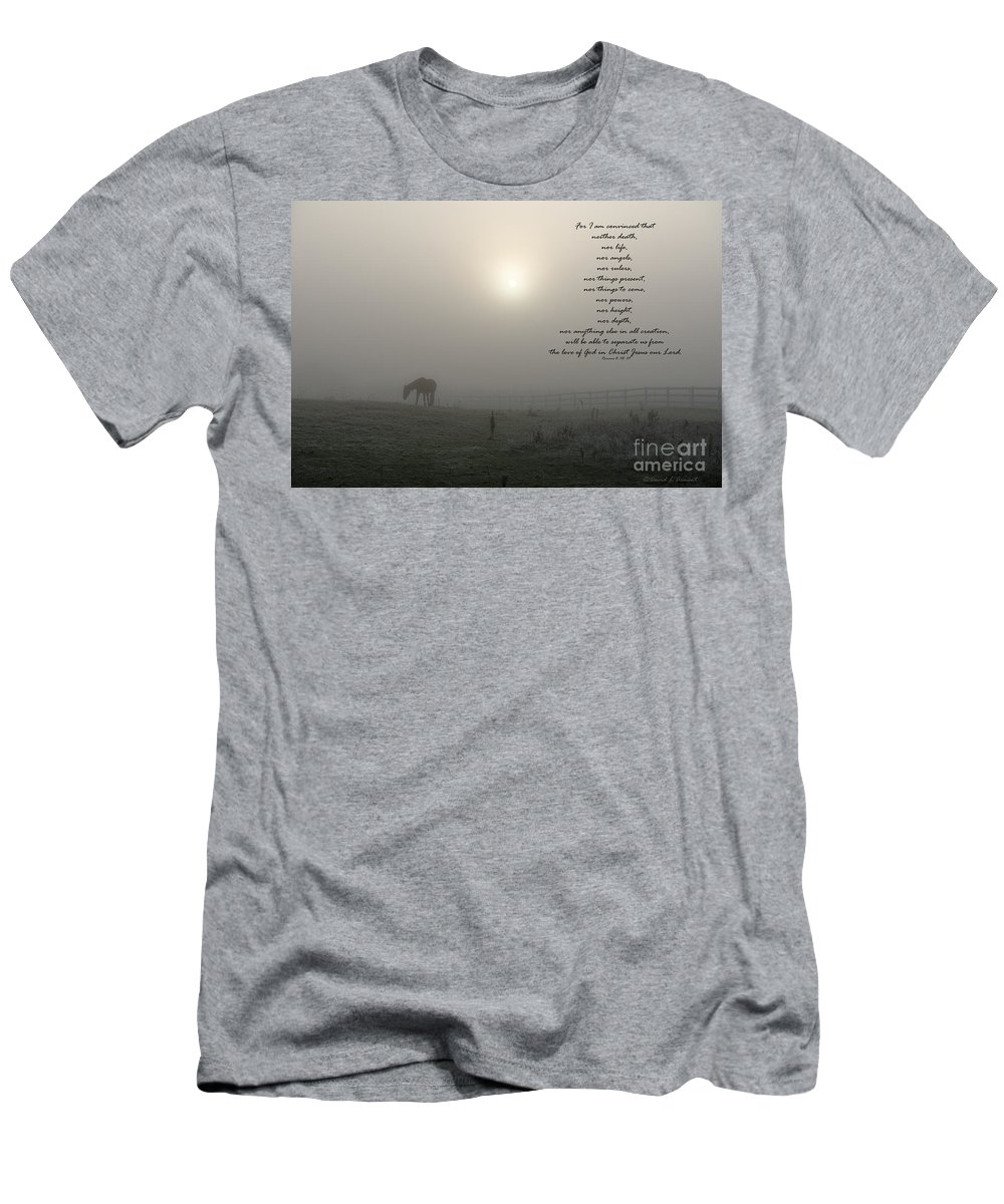 Romans 8 Men's T-Shirt (Athletic Fit) featuring the photograph Nor by David Arment