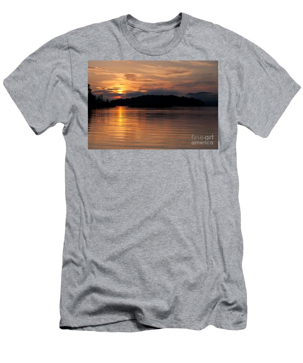 Sunrise Men's T-Shirt (Athletic Fit) featuring the photograph Norris Lake Sunrise by Douglas Stucky