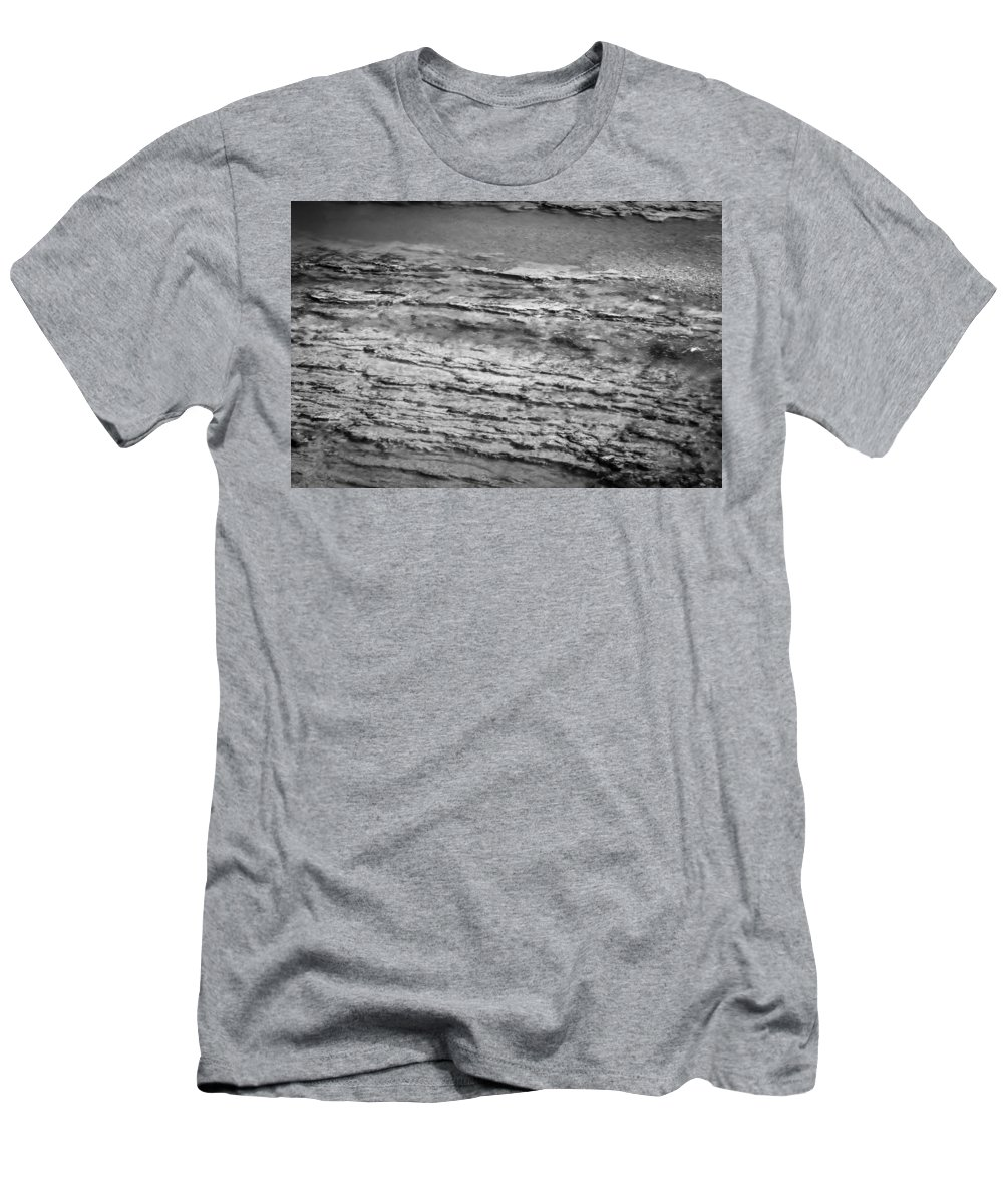 Flathead River Men's T-Shirt (Athletic Fit) featuring the photograph North Fork Of The Flathead River Montana Bw by Rich Franco