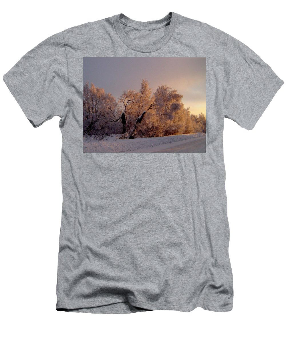 Alaska Men's T-Shirt (Athletic Fit) featuring the photograph Northern Light by Jeremy Rhoades