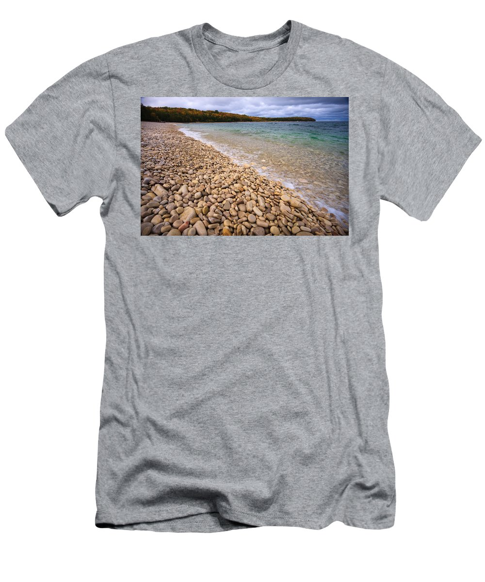 3scape Men's T-Shirt (Athletic Fit) featuring the photograph Northern Shores by Adam Romanowicz