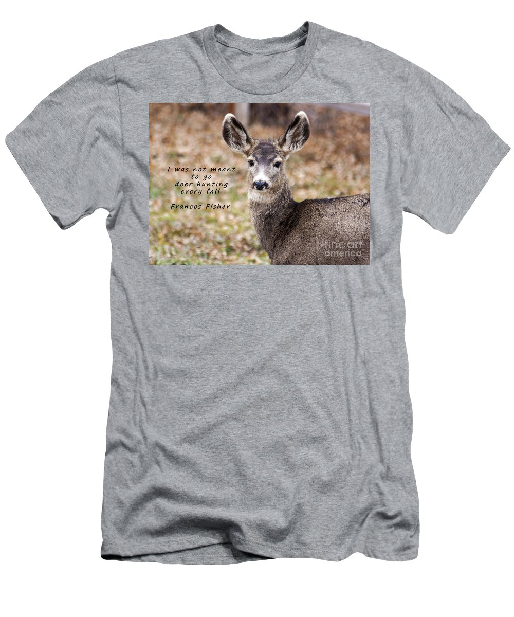 Diet Men's T-Shirt (Athletic Fit) featuring the photograph Not Meant To Deer Hunt by Janice Pariza