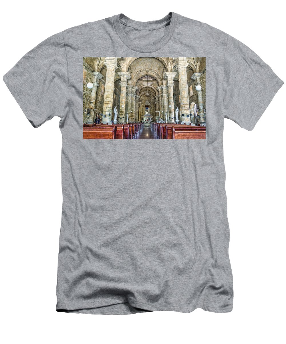 Architecture Men's T-Shirt (Athletic Fit) featuring the photograph Nuestra Senora Del Socorro by Maria Coulson