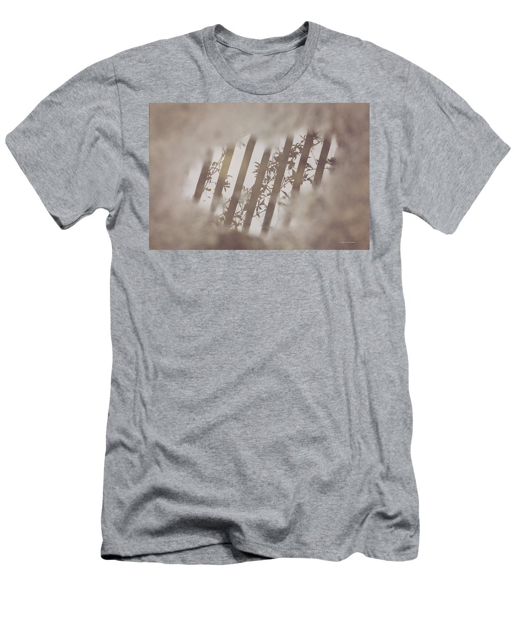 Rain Men's T-Shirt (Athletic Fit) featuring the photograph Oh My Gosh A Rain Puddle In California by Angela Stanton