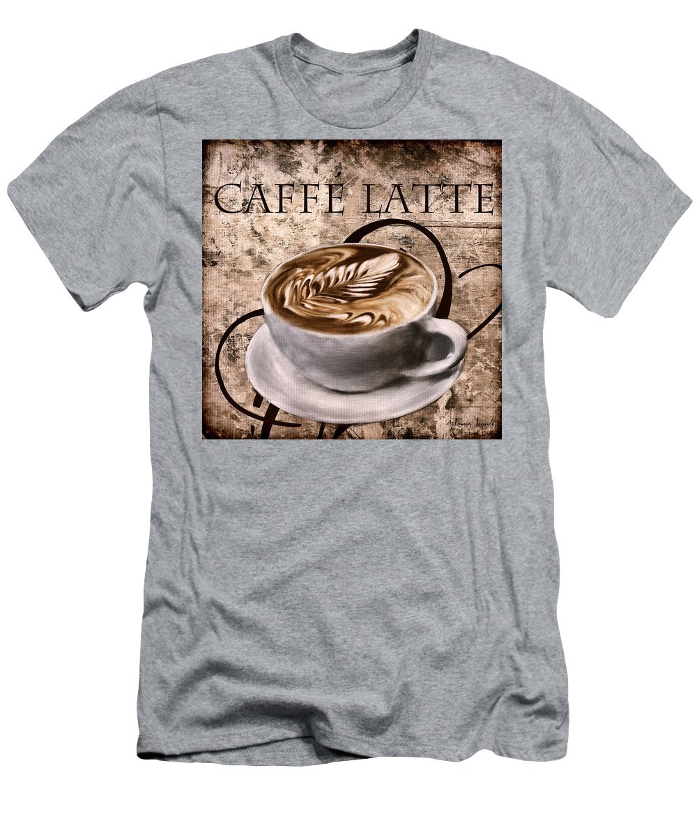 Coffee Men's T-Shirt (Athletic Fit) featuring the digital art Oh My Latte by Lourry Legarde