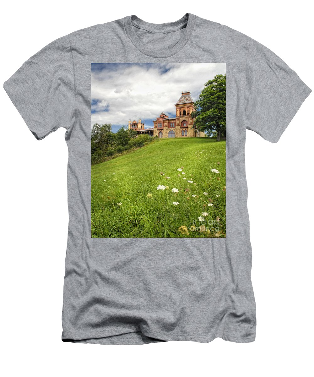 Olana Men's T-Shirt (Athletic Fit) featuring the photograph Olana by Claudia Kuhn