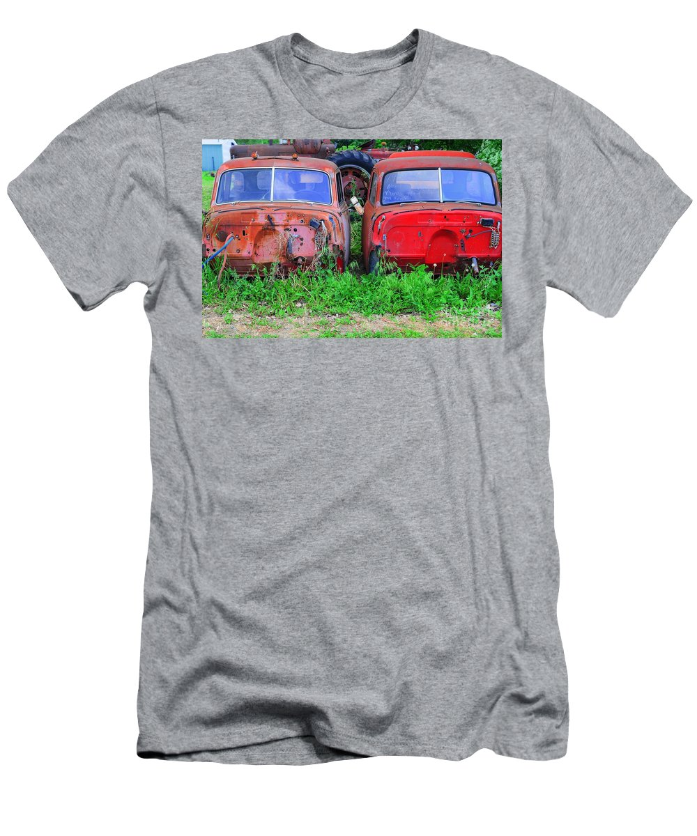 Old Men's T-Shirt (Athletic Fit) featuring the photograph Old Cars by Kathleen Struckle