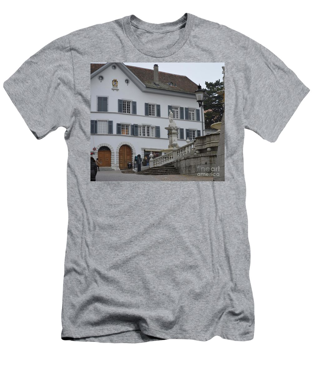 Buildings Men's T-Shirt (Athletic Fit) featuring the photograph Old Charm by Felicia Tica