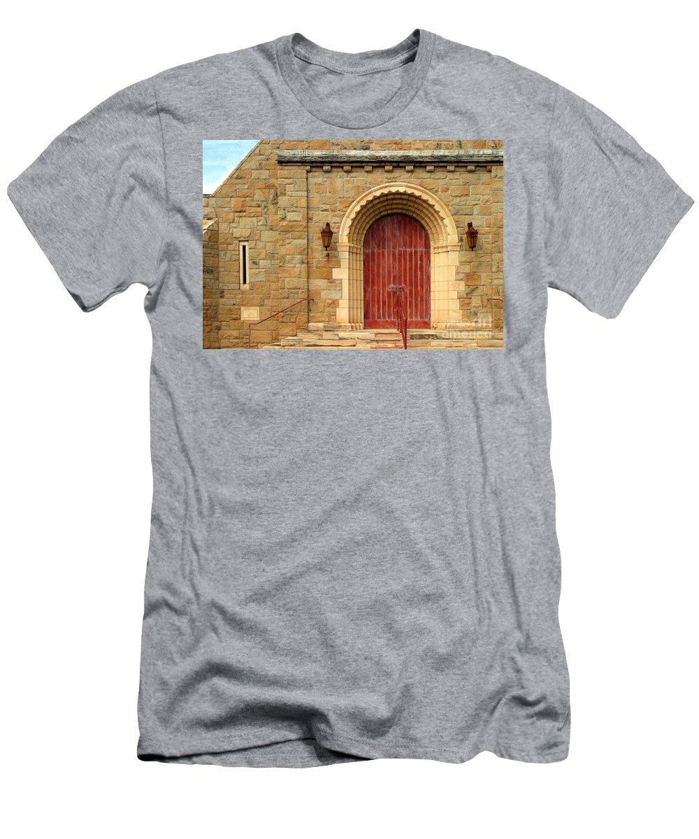 Ancient Men's T-Shirt (Athletic Fit) featuring the photograph Old Church Door by Henrik Lehnerer
