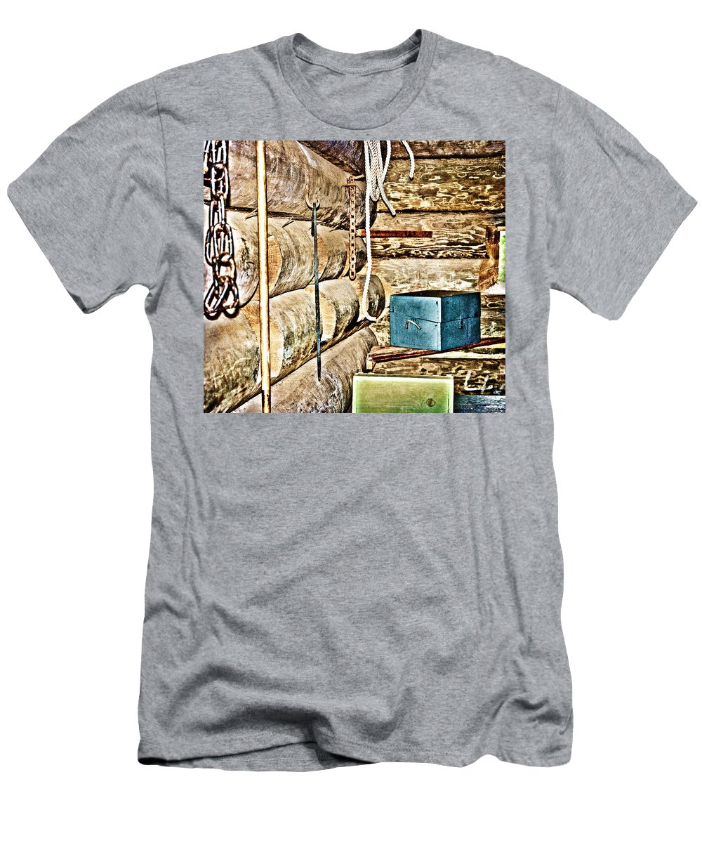 Fort T-Shirt featuring the photograph Old Fort Interior Room by Judy Hall-Folde