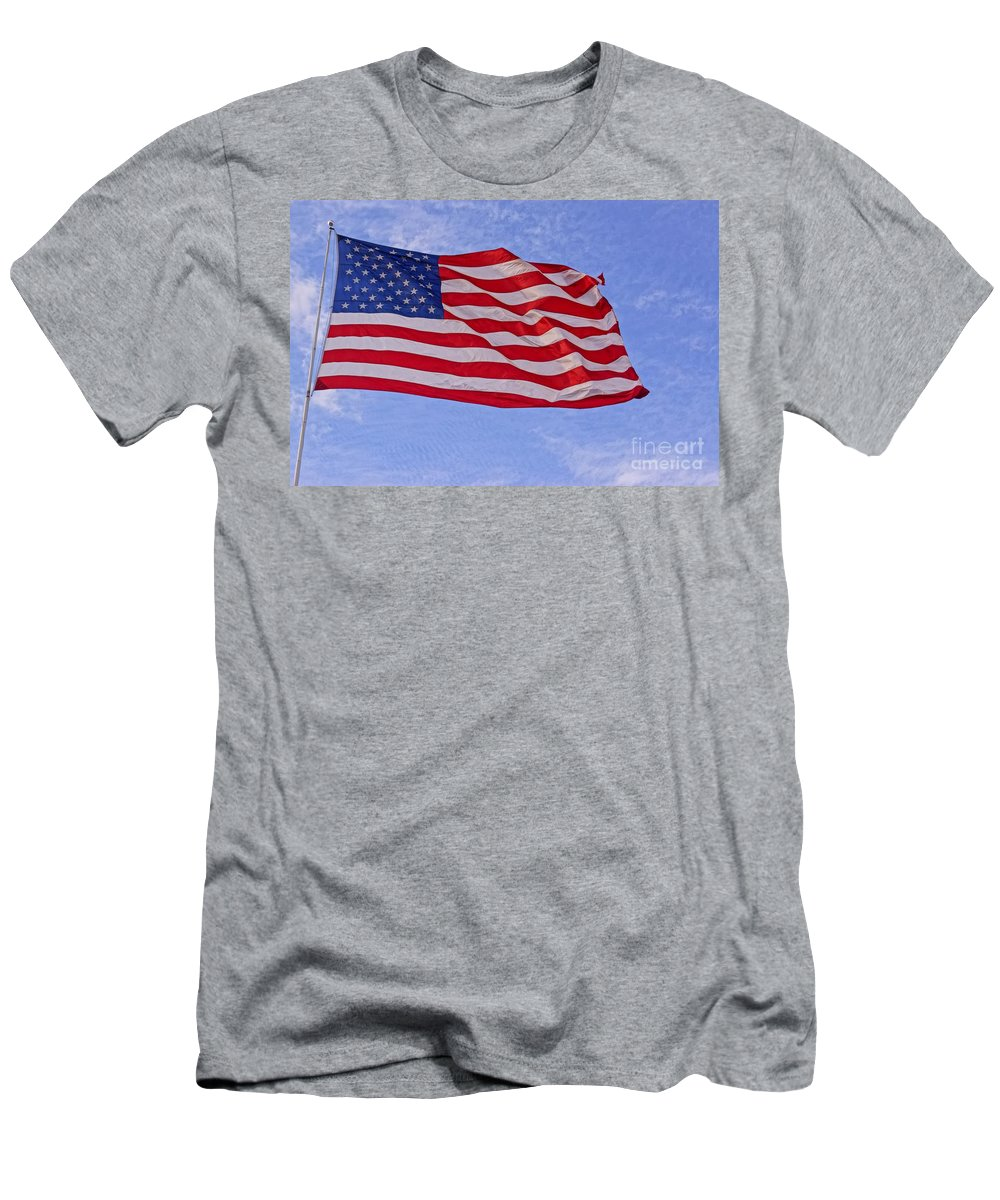 America Men's T-Shirt (Athletic Fit) featuring the photograph Old Glory by Kerri Mortenson