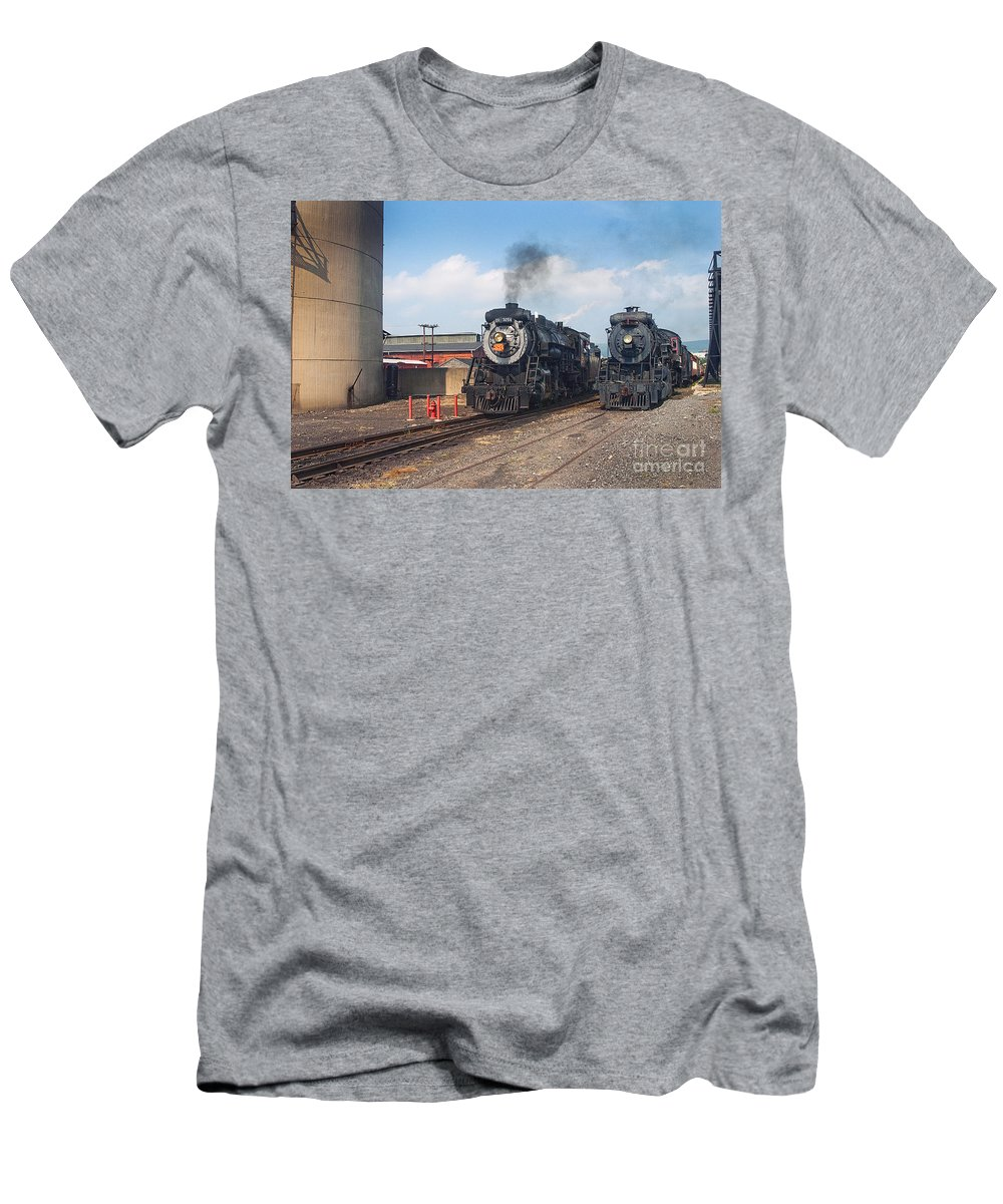 Railroad Men's T-Shirt (Athletic Fit) featuring the photograph Old Number 3254 Under Steam by Paul W Faust - Impressions of Light