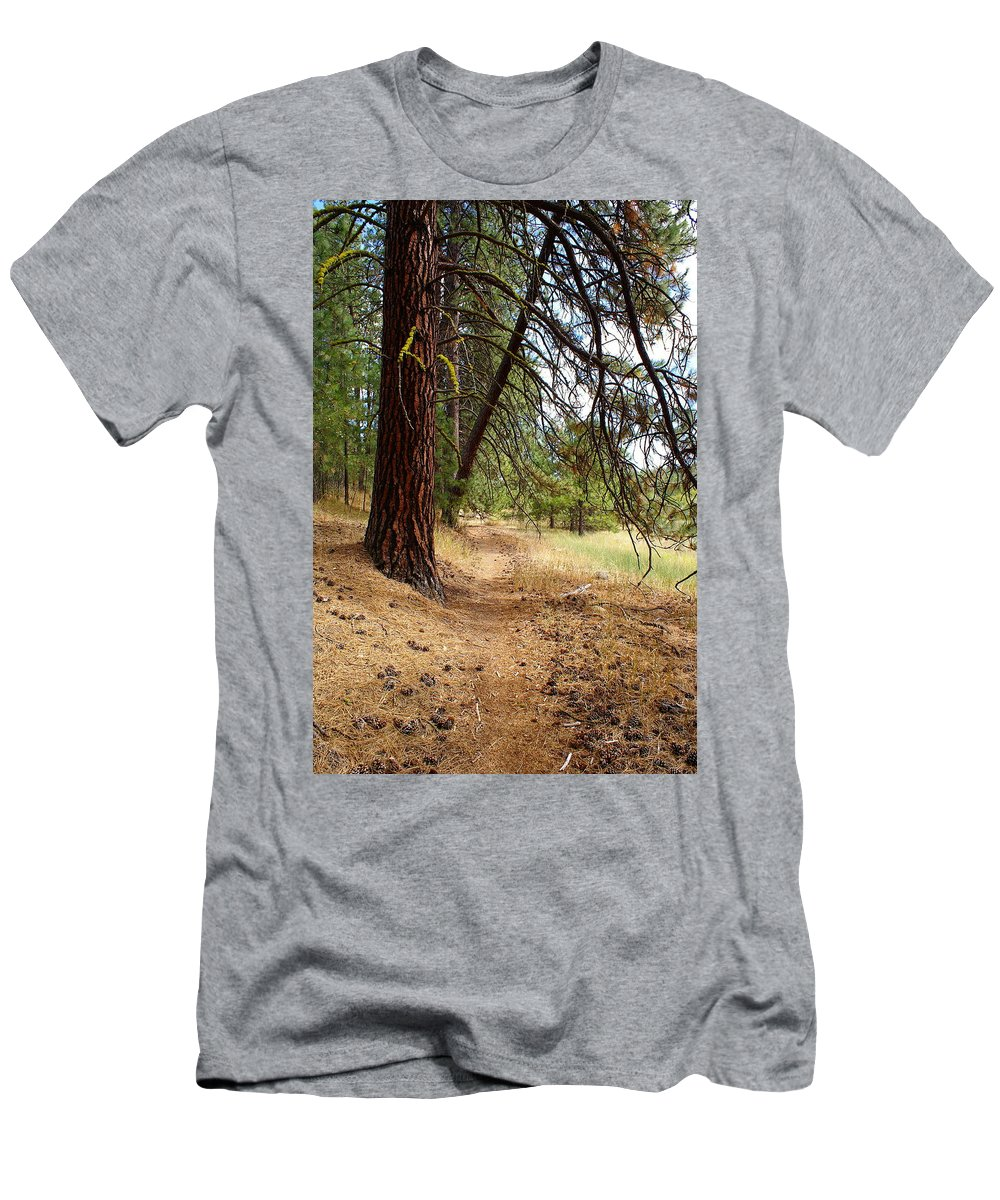 Path Men's T-Shirt (Athletic Fit) featuring the photograph On A Trail From The Past To The Future by Ben Upham III