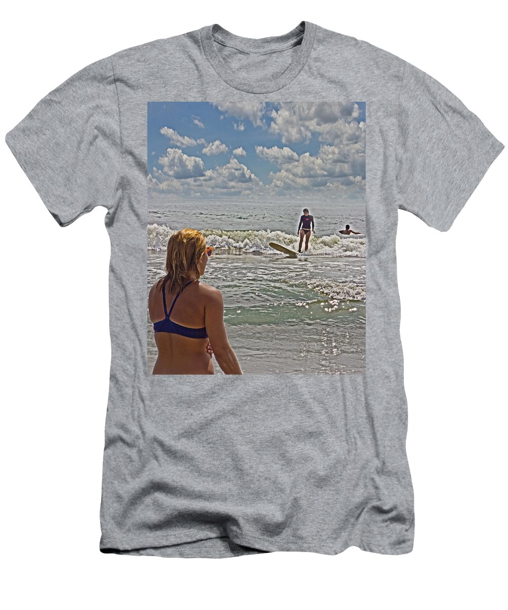 Life Guard Men's T-Shirt (Athletic Fit) featuring the photograph On Duty by Tom Gari Gallery-Three-Photography