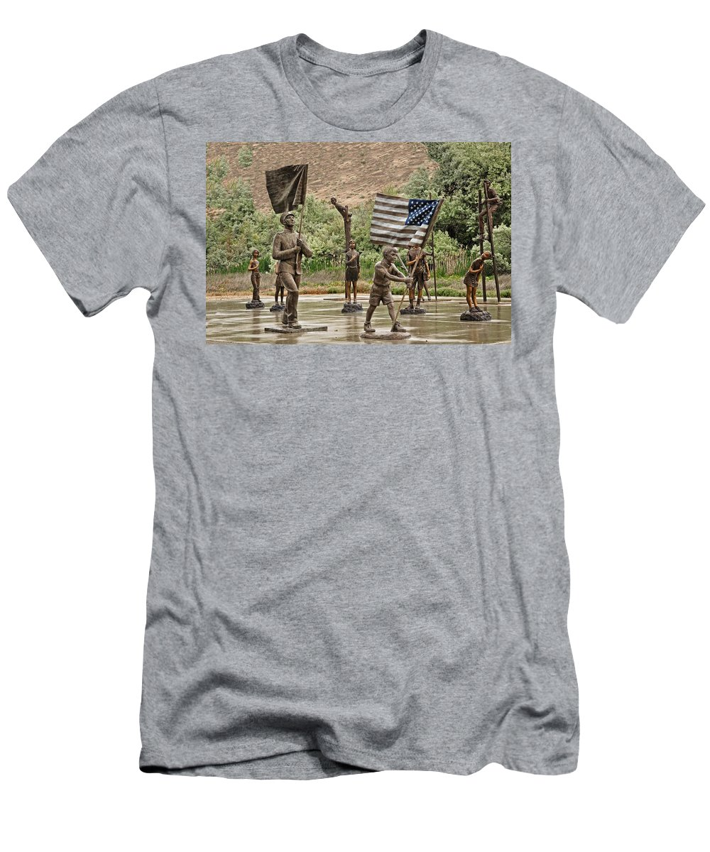 Melba Men's T-Shirt (Athletic Fit) featuring the photograph One Nation Under God by Image Takers Photography LLC