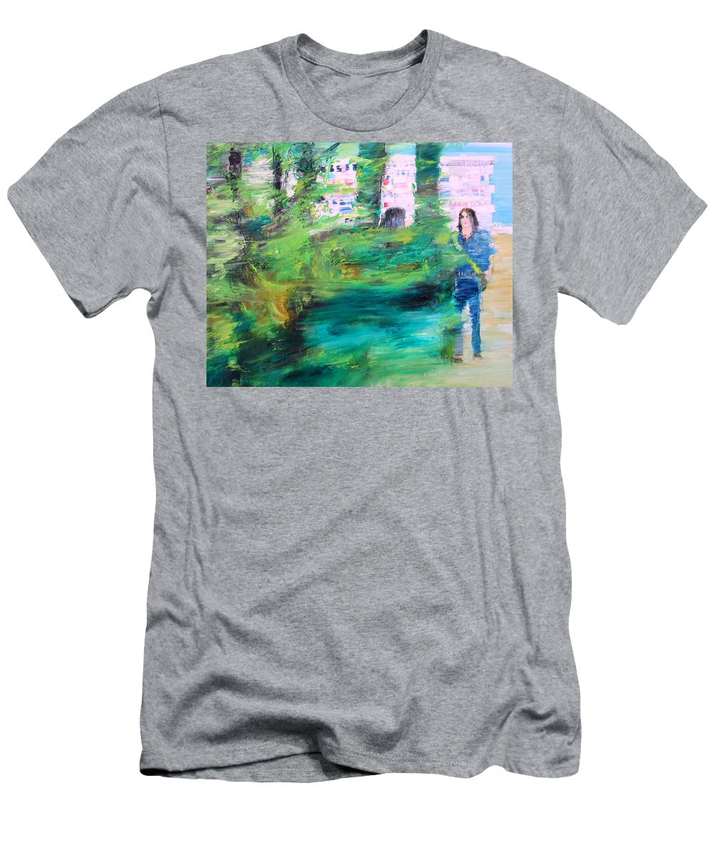 Man Men's T-Shirt (Athletic Fit) featuring the painting One Of These Days by Fabrizio Cassetta