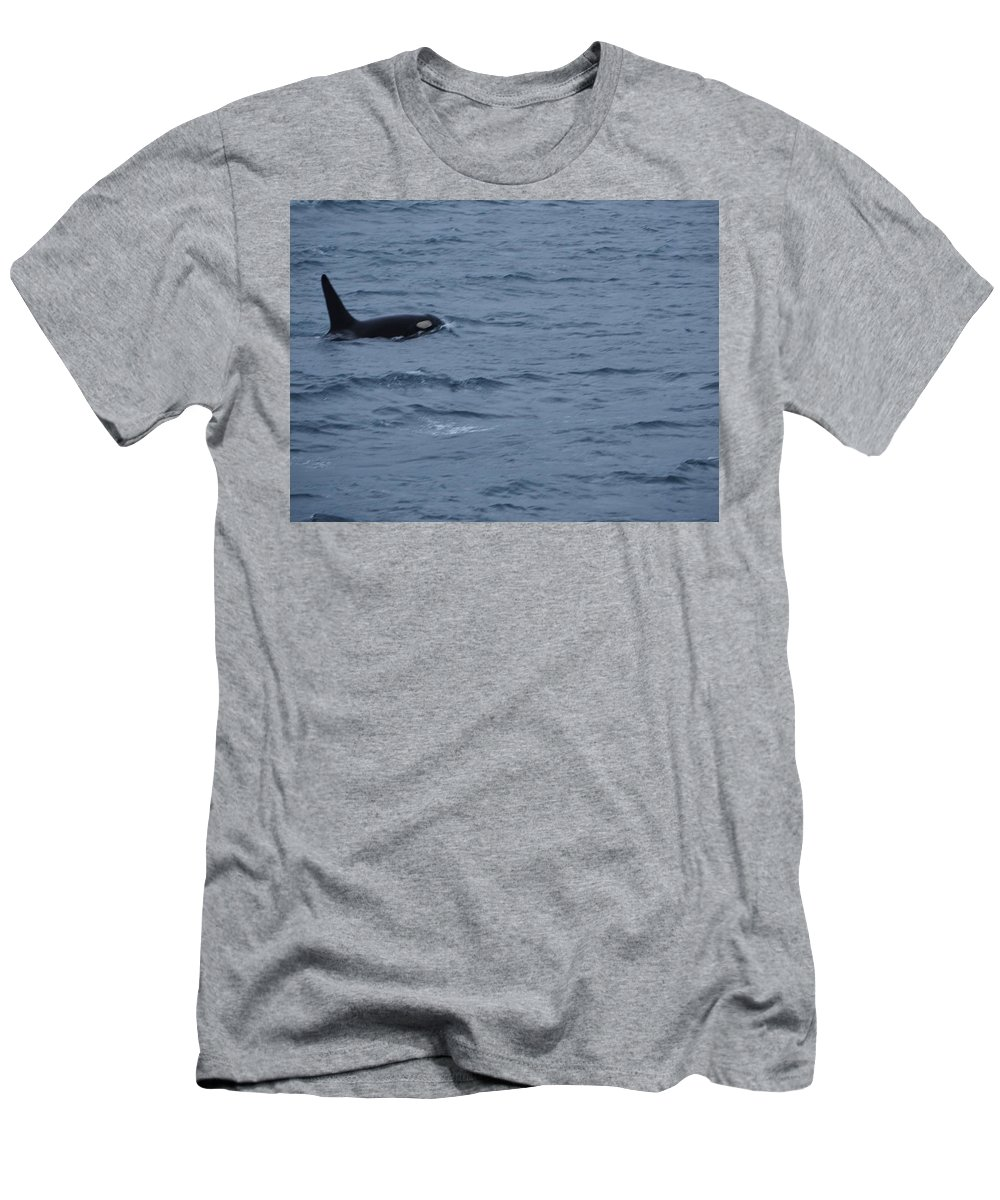 Whales Men's T-Shirt (Athletic Fit) featuring the photograph Orca by Mark Ball