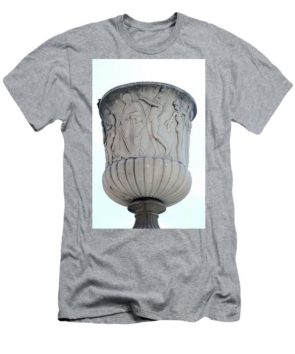 Bowl Men's T-Shirt (Athletic Fit) featuring the photograph Ornaments On Urn Campo Santo Pisa by Christiane Schulze Art And Photography