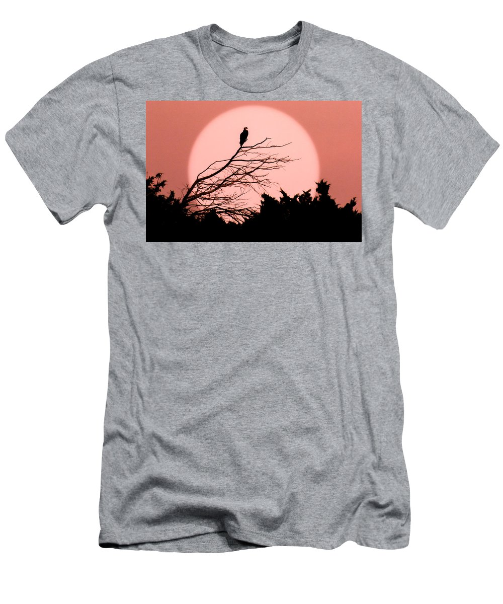 Full Moons Men's T-Shirt (Athletic Fit) featuring the photograph Osprey Moon by Karen Wiles