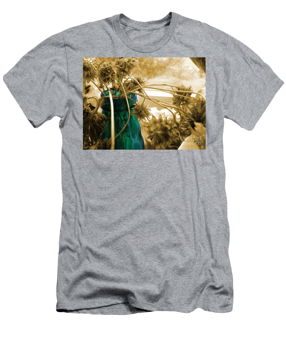 Dried Clover Men's T-Shirt (Athletic Fit) featuring the photograph Over For The Clover by Martin Howard