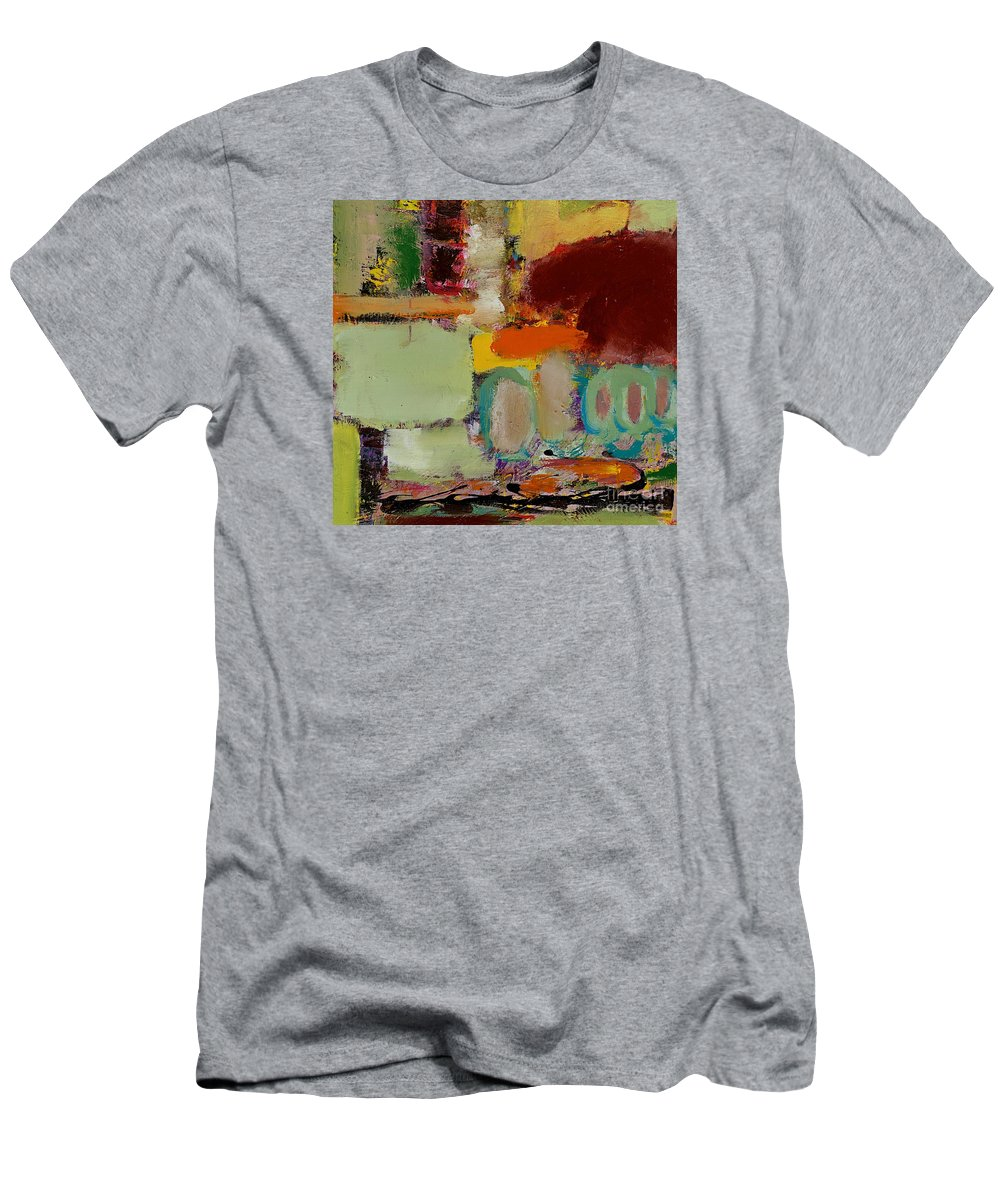 Landscape Men's T-Shirt (Athletic Fit) featuring the painting Over There by Allan P Friedlander