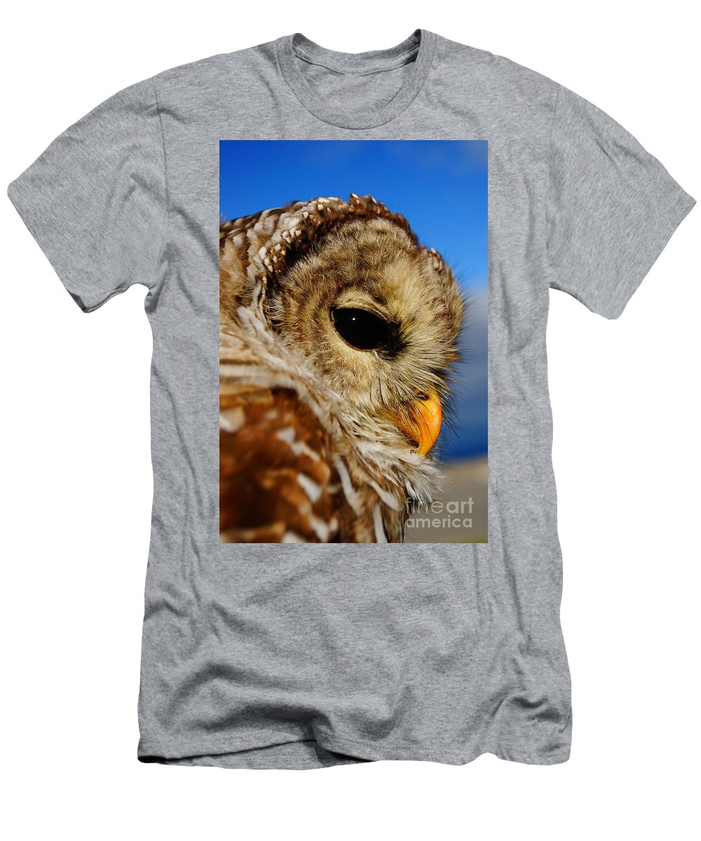 Owl Men's T-Shirt (Athletic Fit) featuring the photograph Owl by Jeffery L Bowers