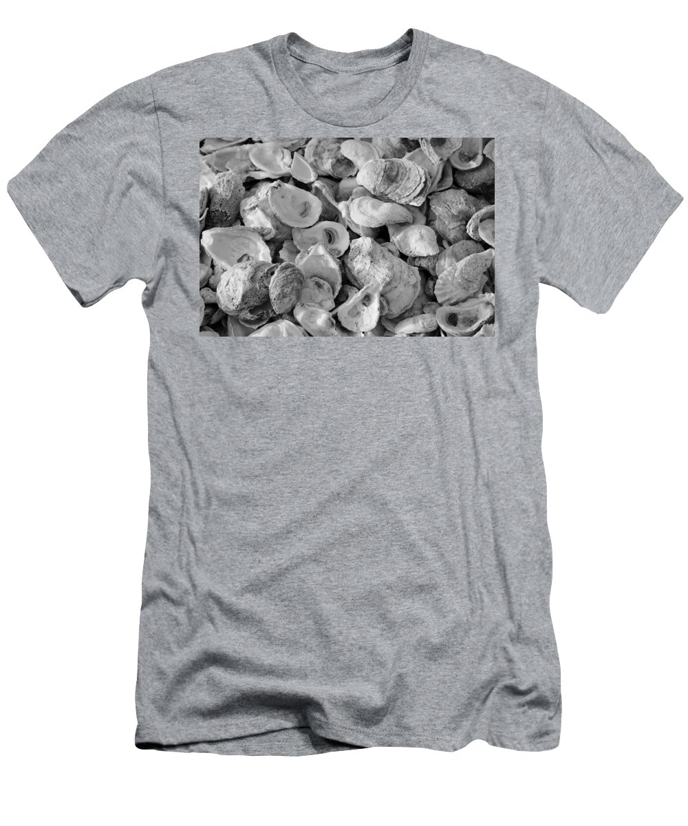 Oyster Men's T-Shirt (Athletic Fit) featuring the photograph Oyster Shells by Cynthia Guinn