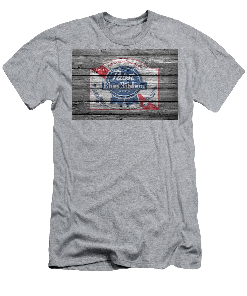 0a4f0d4c8 Pabst Men's T-Shirt (Athletic Fit) featuring the photograph Pabst Blue  Ribbon Beer