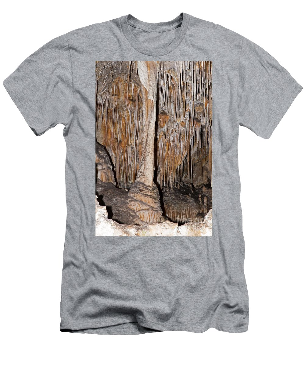 Carlsbad Men's T-Shirt (Athletic Fit) featuring the photograph Painted Grotto Carlsbad Caverns National Park by Fred Stearns