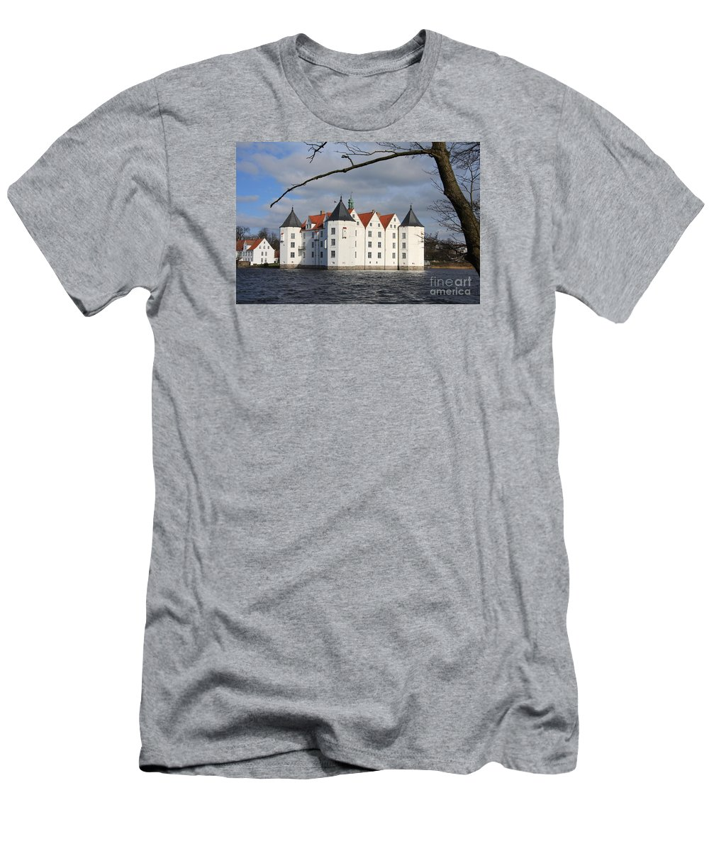 Palace Men's T-Shirt (Athletic Fit) featuring the photograph Palace Gluecksburg - Germany by Christiane Schulze Art And Photography