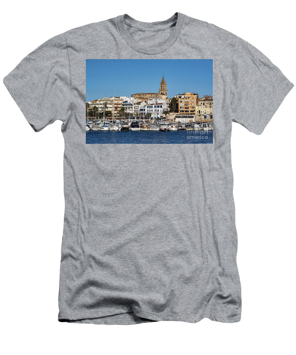 Catalonia Men's T-Shirt (Athletic Fit) featuring the photograph Palamos Spain by John Greim