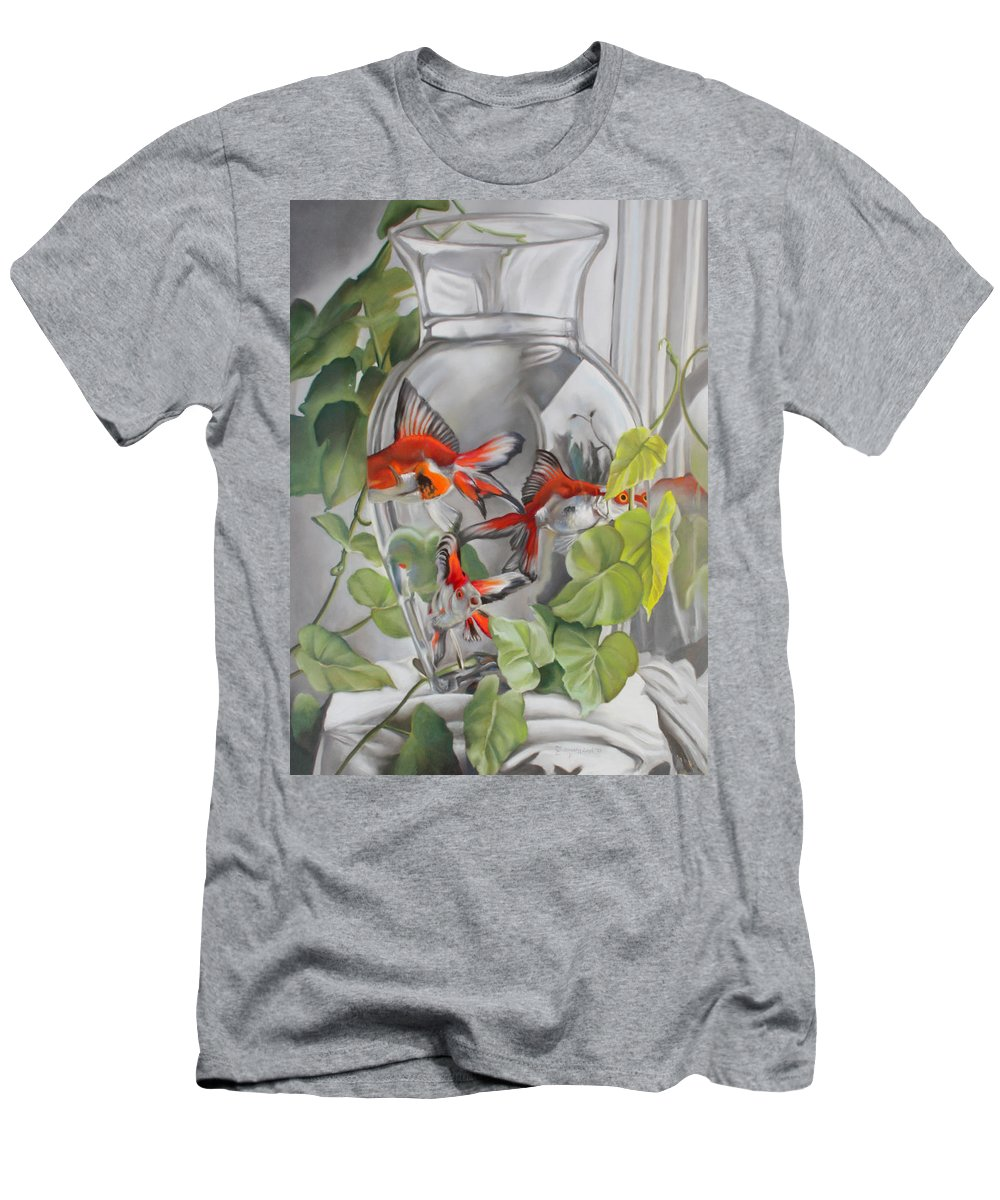 Vase Men's T-Shirt (Athletic Fit) featuring the pastel Panes by Timothy Loyd
