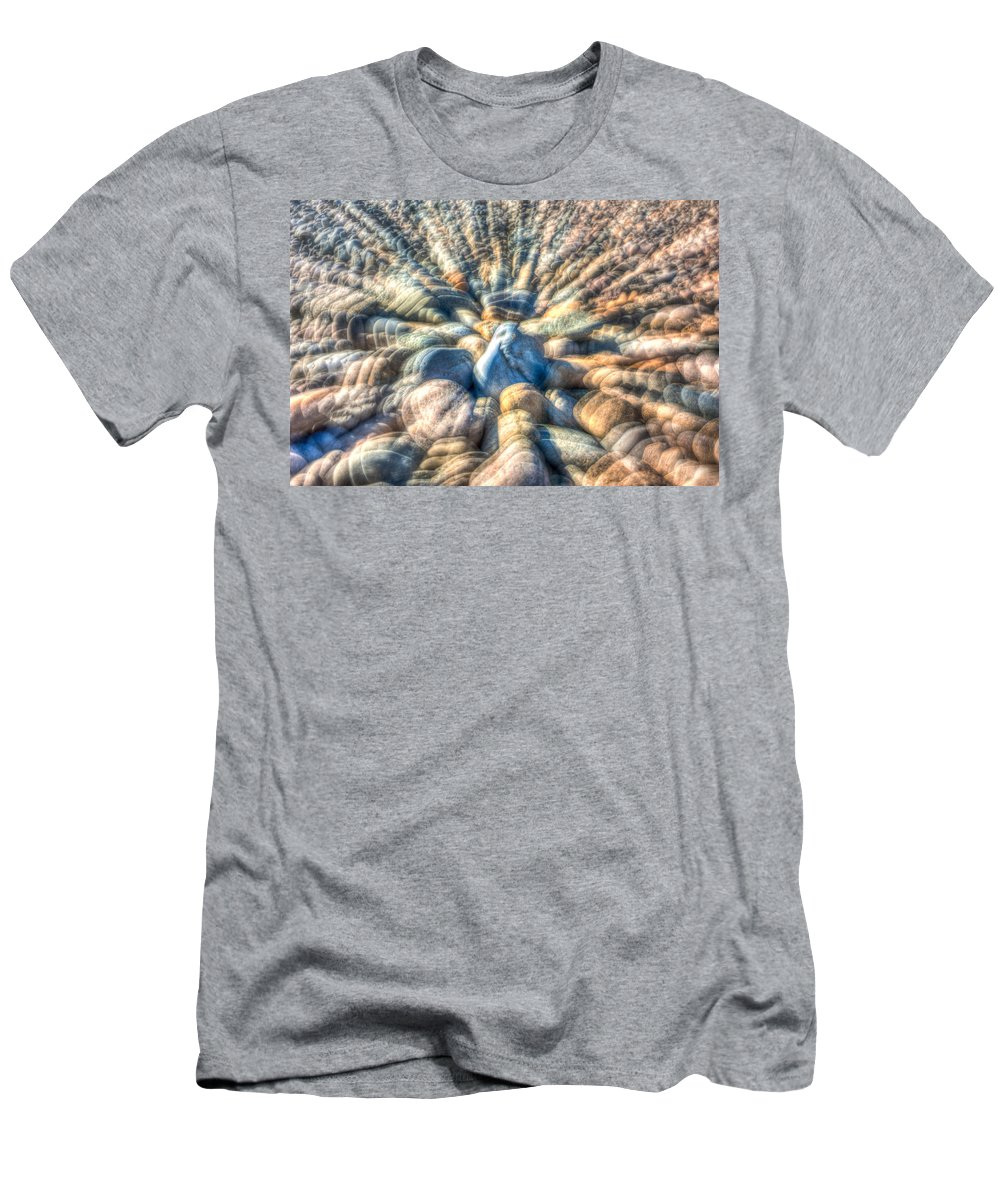 Rocks Men's T-Shirt (Athletic Fit) featuring the photograph Color Zoom by Elyssa Drivas