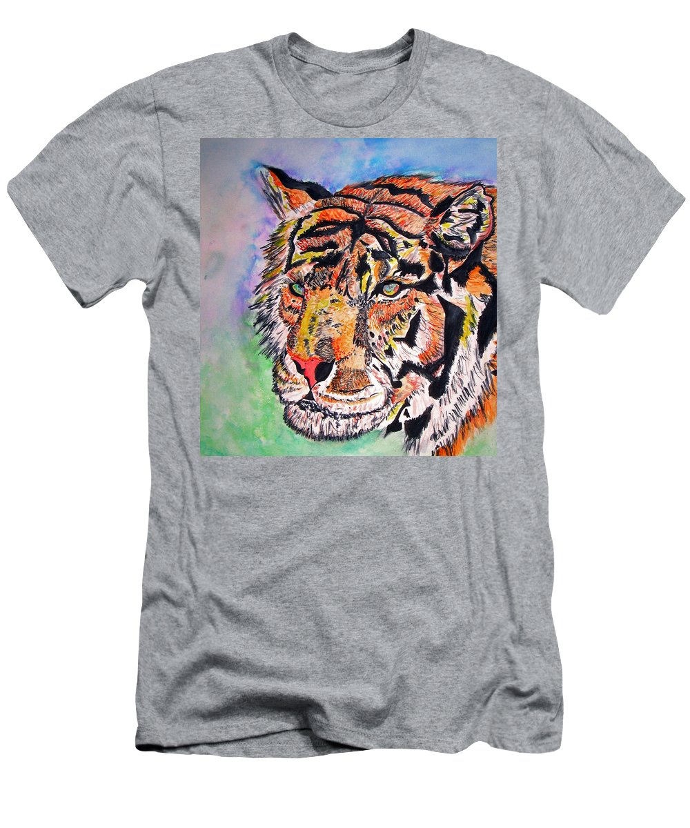 Abstract Men's T-Shirt (Athletic Fit) featuring the painting Paradise Dream by Crystal Hubbard