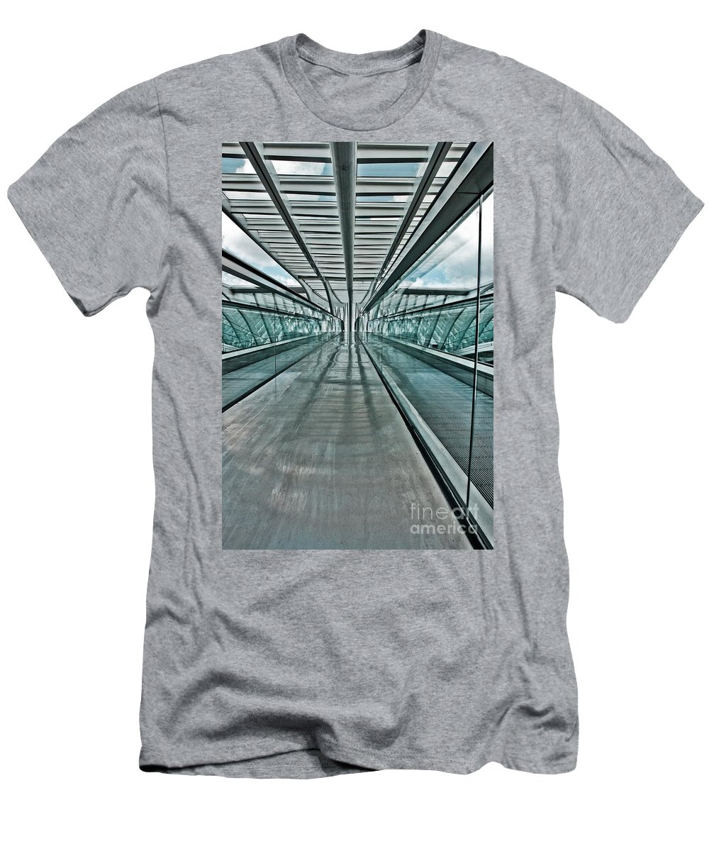 Glass Men's T-Shirt (Athletic Fit) featuring the photograph Parallels by Brothers Beerens