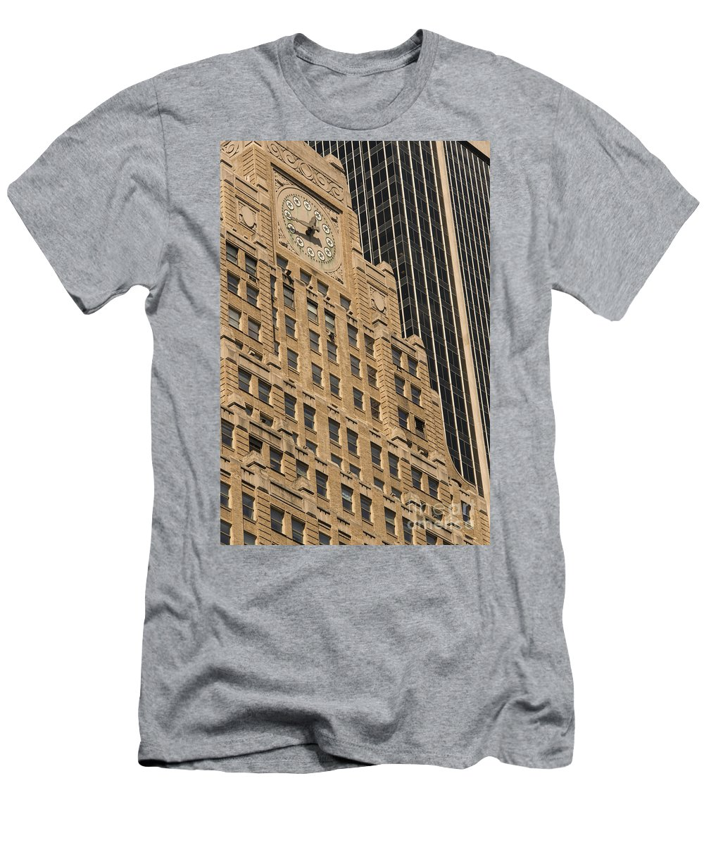 Paramount Building Buildings Architecture Cities Structure Structures Window Windows Clock Clocks New York City Men's T-Shirt (Athletic Fit) featuring the photograph Paramount Building by Bob Phillips