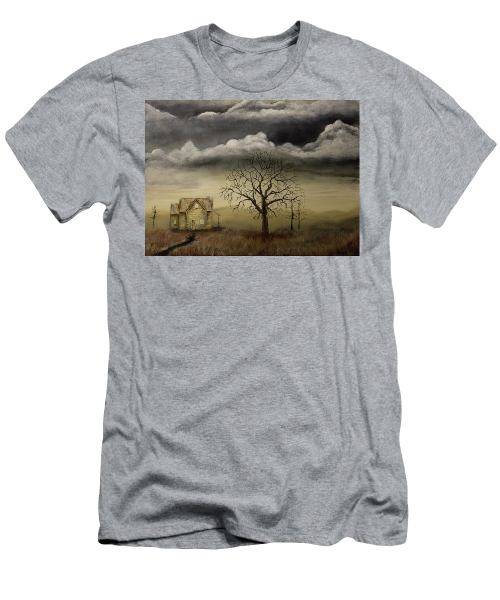 Gray Artus Men's T-Shirt (Athletic Fit) featuring the painting Passing Storm by Gray Artus