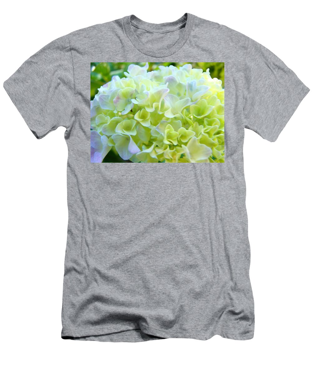 Nature Men's T-Shirt (Athletic Fit) featuring the photograph Pastel Floral Hydrangea Flowers Art Baslee Troutman by Baslee Troutman