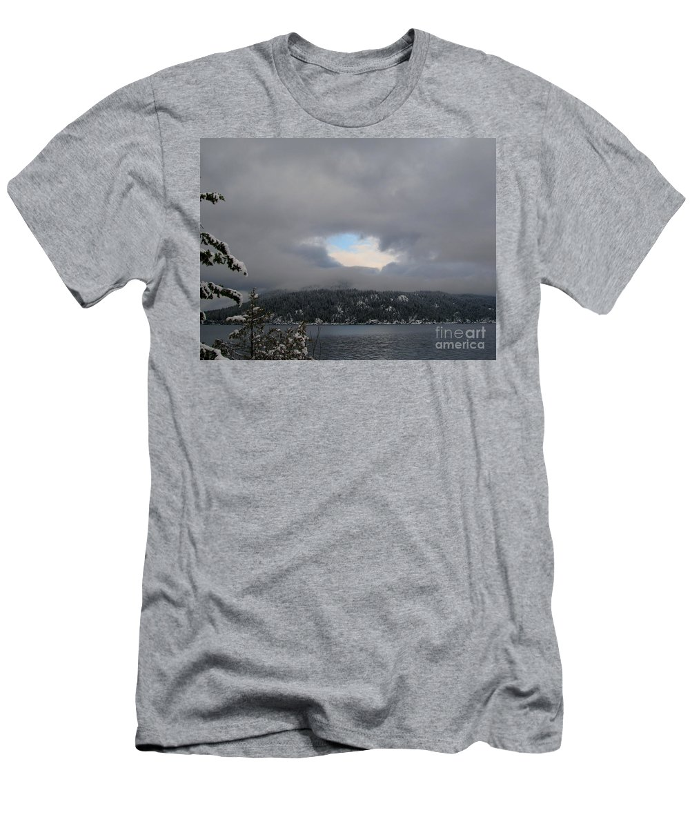 Clouds Men's T-Shirt (Athletic Fit) featuring the photograph Patch Of Blue by Leone Lund