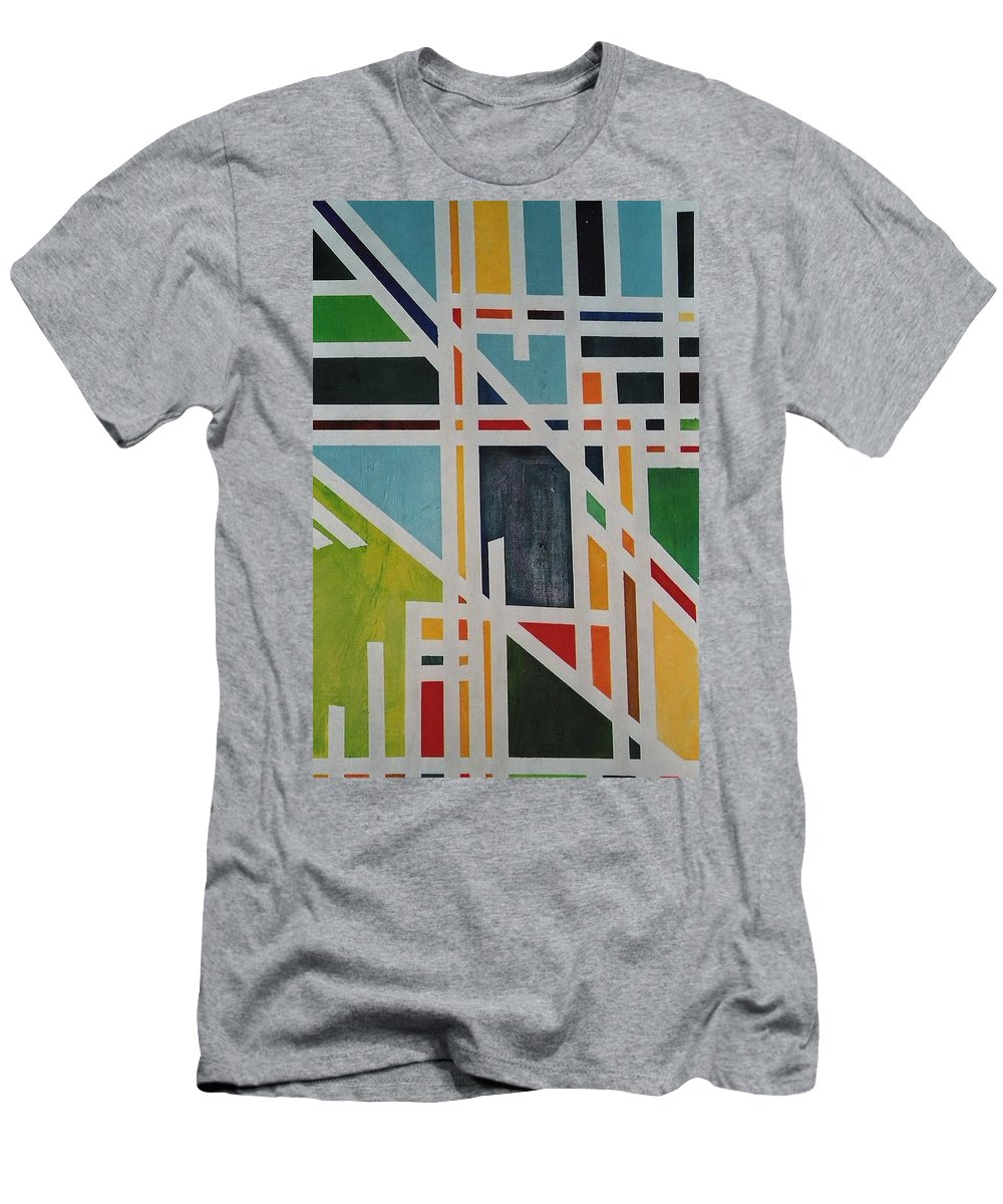 Pathway Men's T-Shirt (Athletic Fit) featuring the painting Pathway by Lord Frederick Lyle Morris