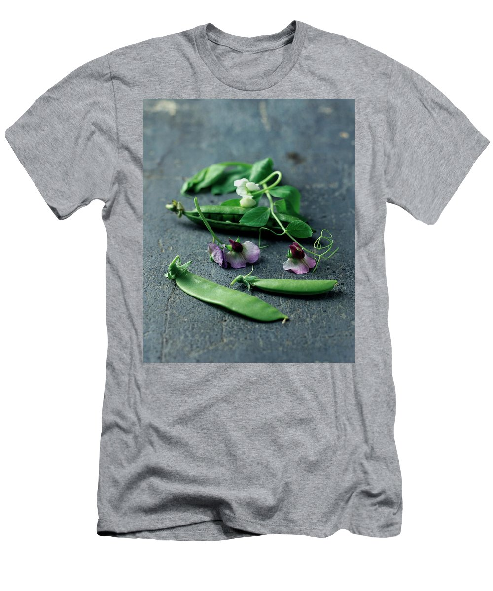 Fruits T-Shirt featuring the photograph Pea Pods And Flowers by Romulo Yanes