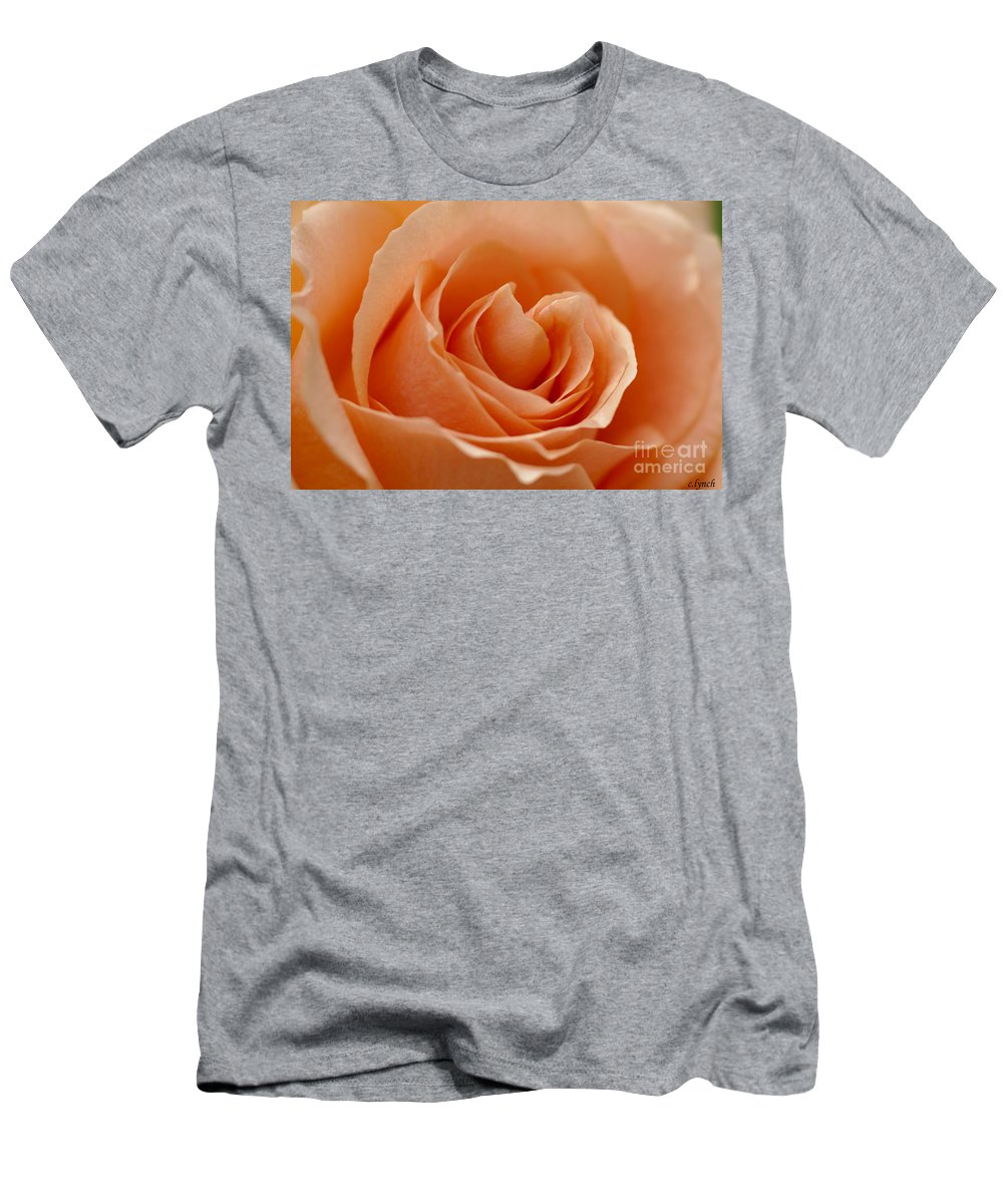 Peach Men's T-Shirt (Athletic Fit) featuring the photograph Peach by Carol Lynch
