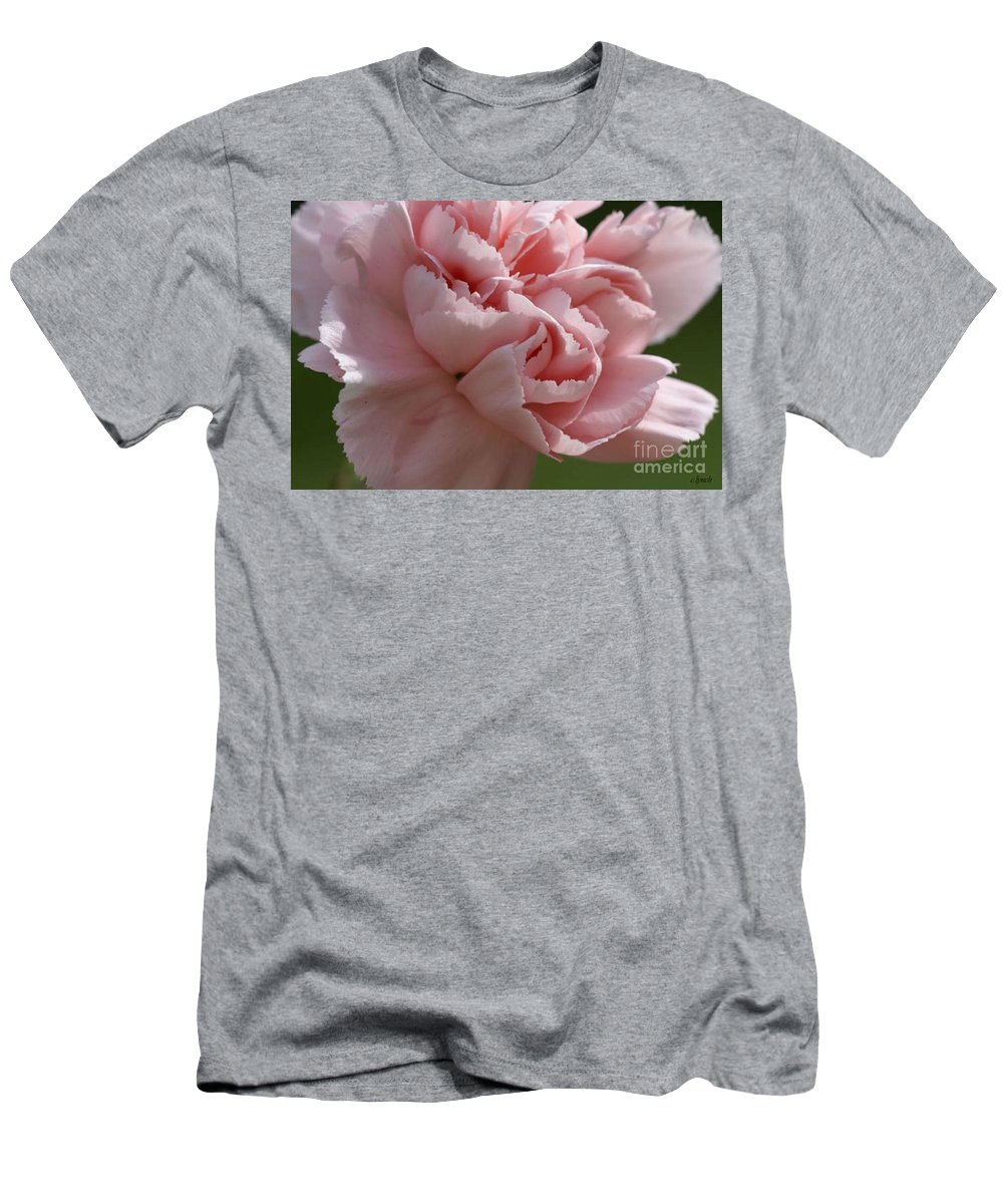 Pink Men's T-Shirt (Athletic Fit) featuring the photograph Pink Carnation by Carol Lynch
