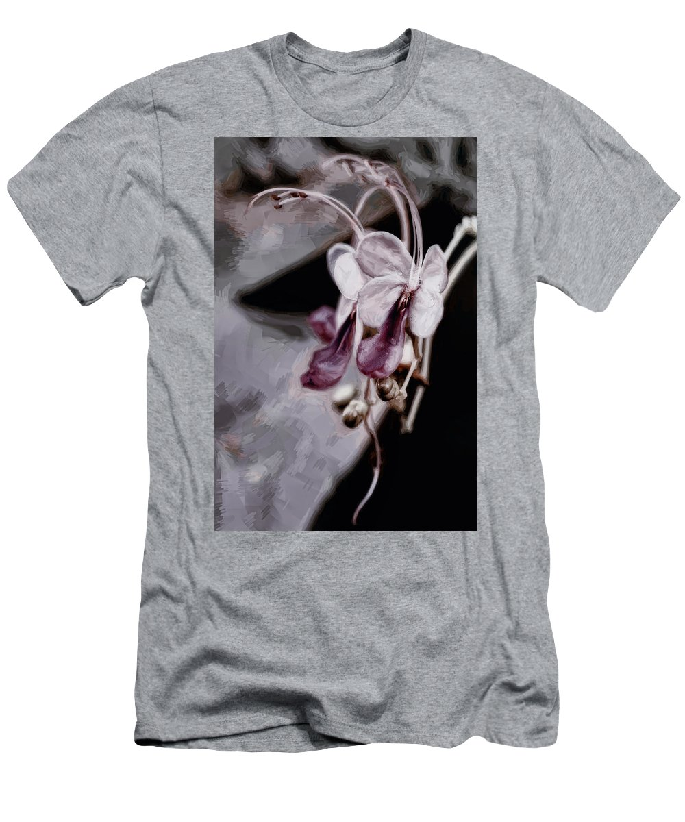 Flower Men's T-Shirt (Athletic Fit) featuring the digital art Pink by Diane Dugas