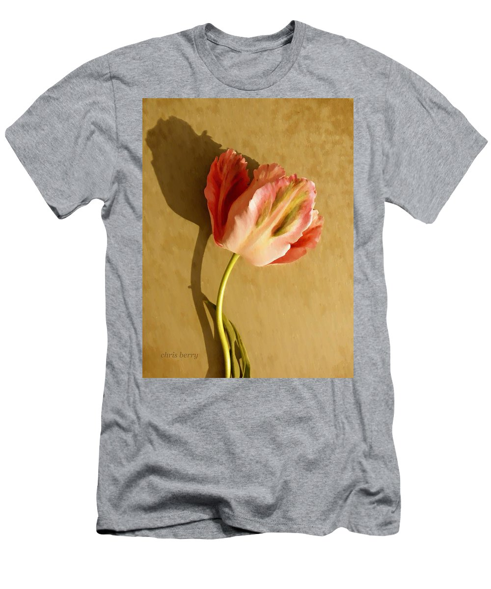 Tulip Men's T-Shirt (Athletic Fit) featuring the photograph Pink Splendor by Chris Berry
