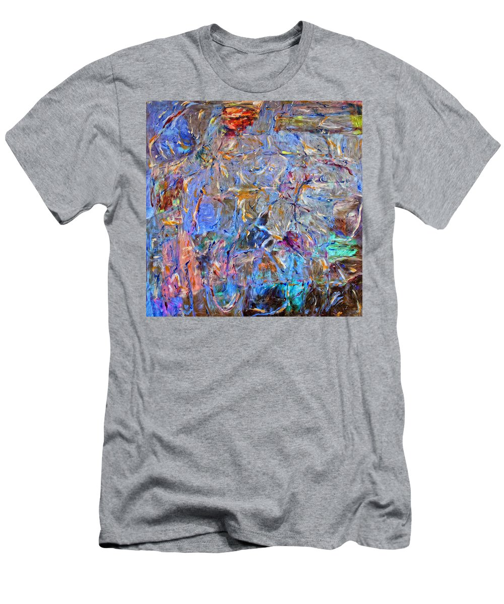 Abstract Men's T-Shirt (Athletic Fit) featuring the painting Playground by Dominic Piperata
